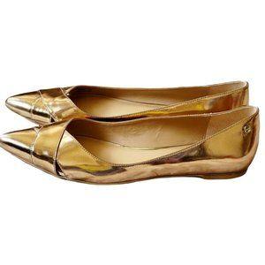 Calvin Klein Gailia Ballet Flats Gold Women's Size